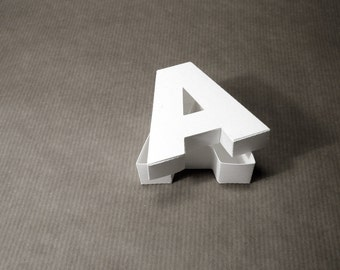 DIY paper sculpture: Letter A Box
