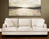 Large Landscape Painting Original Abstract Art Large Oil Painting Modern Contemporary wall art canvas 24 x 48 by Sky Whitman