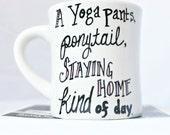 Funny coffee mug, best friend gift, girls night, black pink, yoga pants, bestie, womens, girlfriend, personalized, coworker, gift under 25