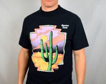 Vintage 90s Houston Texas Souvenir Tee Shirt Tshirt