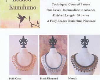 Embellished Fully Beaded Kumihimo Collar Tutorial designed by Diana Miglionico-Shiraishi as featured in Belle Armoire Jewelry Fall 2015