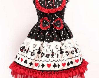 Alice in Wonderland JSK - black and red - special edition