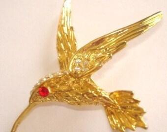 Bird Rhinestone Animal Brooch