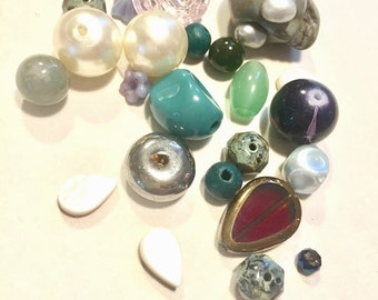Supplies - Assorted Beads - Skull, Glass, Plastic, Pearl and more
