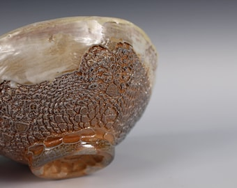 Wood Fired Bowl with Wavy Rim 2