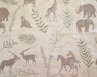 African Safari Animal Printed Upholstery Fabric