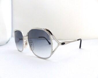1960s Sunglasses Chrome // 60s Vintage Frames //   Nice gradient pale gray blue lensesImperial Optical