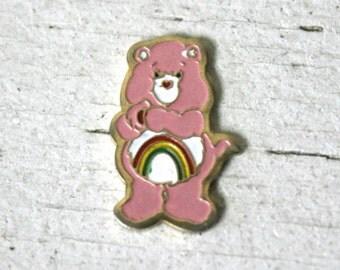 Cheer Bear Charm, Vintage Care Bears, Care Bears, Care Bear Finding, Care Bear Pendant, Cheer Bear, Cheer Bear Care Bear, Cheer Bear Finding
