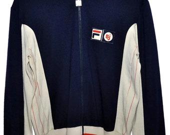 Vintage 70s 80s FILA Bjorn Borg BJ Settanta MK1 Zip Up Tennis Track Jacket 40 M