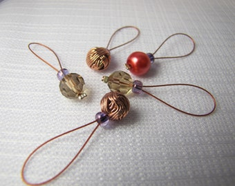 Yarn Love - Five Snagless Stitch Markers - Fits Up To 6 mm (10 US)