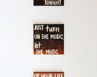 FALL SALE, Daft Punk Lyrics // Acrylic painting // Art Decor for any Room // Great gift for Music lovers // Wall Decor // Unique Home Decor