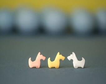Tiny scottie Earrings Scottish Terrier Studs Dog Earrings Pet jewelry love my pet jewelry animal earrings