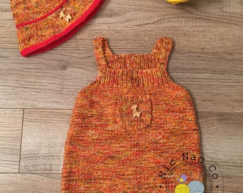 Combination summer, short, multicolour, cotton and his hat for baby (6 months)
