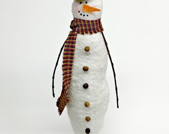 Snowman | Primitive Snowman | Holiday decoration | Snowman Decoration | Tall Snowman | Handmade snowman | Christmas Snowman | Snowman decor