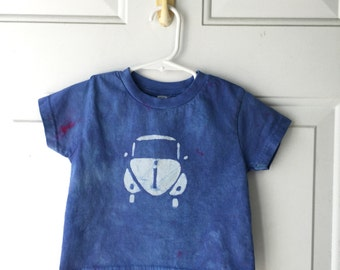 Kids Car Shirt, Blue Car Shirt, Kids Beetle Shirt, Boys Car Shirt, Girls Car Shirt, Kids Volkswagen Shirt, Childrens Car Shirt (2T)