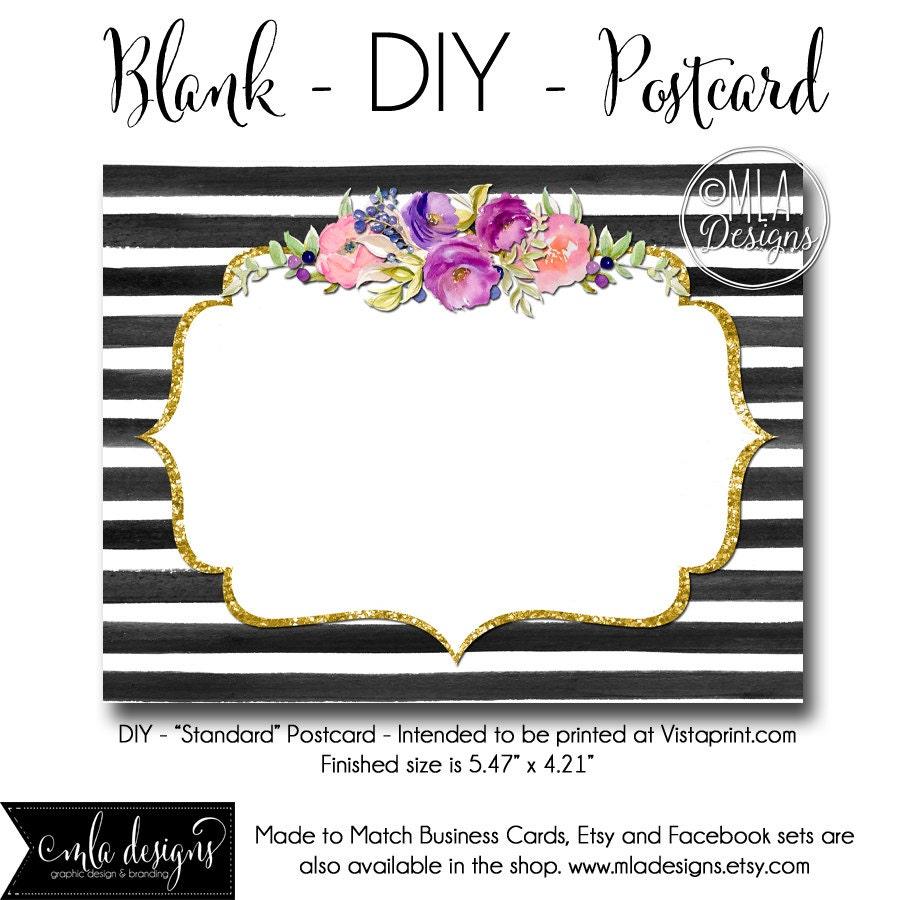 DIY Vistaprint Standard Size Postcard Oh Carolina 2 Blank