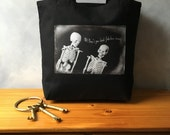 "Complimentary Skeletons - Original Photograph on a Canvas Bag - High Quality Image Transfer - ""Oh! Don't you look fabulous today!""- Tote Bag"