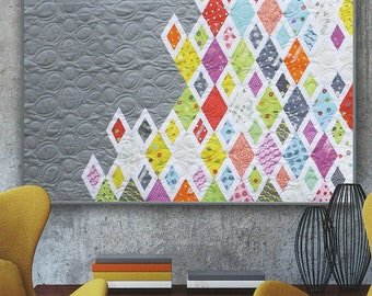 Diamonds and Grey Quilt Pattern by Zen Chic