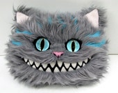 "Cheshire Cat Head Decorative Pillow 16"""
