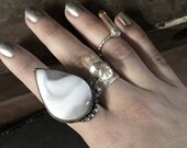 Crazy Lace Dream Agate Silver Ring