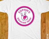 Pink Bowling Party Iron-On Shirt Design - Choose adult, child, or onesie size