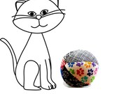 Organic catnip toy, catnip ball, colorful cat toy, soft cat toy, cat nip toy, cat birthday gift