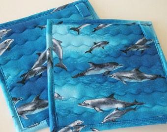 Dolphins Potholder Set