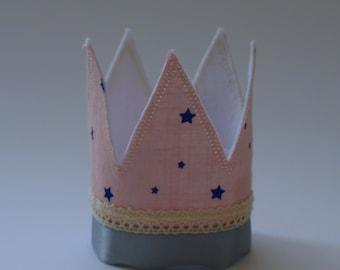 Crown , fabric crown, birthday crown, princess crown