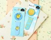 Lemon & Bee cartoon magnetic bookmark paper clips