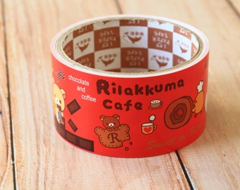 cute cartoon RILAKKUMA CAFE  wide deco PAPER tape