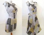 "CLEARANCE Adorable Vintage  Hawaiian cotton print playsuit  matching skirt ""Island Casuals""  Waikiki Pinup girl Tiki Rockabilly size medium"