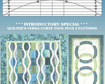 Quilter's Versa Curve Tool - Free Quilt Patterns - Falling Waters - Winner's Circle - Time to Quilt #TTQVC-BUNDL1 - Quilter's Curve Ruler