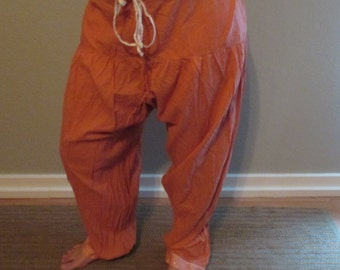 Vintage Pink Coral cotton Harem Pant bellydance belly dance bollywood bhangra ATS tribal fusion