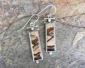 Biggs Jasper and Fine Silver Earrings. Handmade Jewelry for Charity.