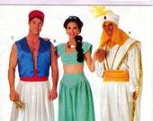 1990s Aladdin & Jasmine Costume Pattern - Vintage Butterick 3048 - UNCUT FF Halloween Costume Arabian Nights Harem