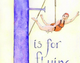 F is for Flying Limited Edition Giclee Print