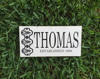 Wedding ~ Last Name Established Sign ~ Family Custom Wood Sign ~ Last Name Sign ~ Family Gift ~ Anniversary Gift ~ Wedding Gift ~Family Sign