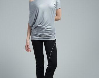 Off Shoulder Blouse / Summer Blouse / Short Sleeve Blouse / Loose Top / Casual Shirt / Oversize Blouse / marcellamoda - MB642