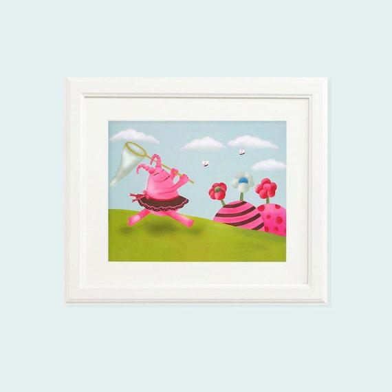 Baby girl art, Nursery girl, Baby girl nursery, Baby girl prints, Girl nursery prints, Girl nursery art, Monster art, Baby girl wall art