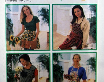 Simplicity 9333, Misses' Aprons Sewing Patterns, 4 Apron Styles Pattern, Sewing Pattern, Design Your Own Easy Aprons, Misses' S, M, L, Uncut