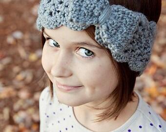 Crochet Bow Headband Pattern, Bow Turban Headband, Crochet Pattern, Turban Headband, Child Headband, Baby Headband, PDF Pattern