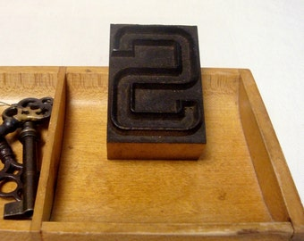 Outline Letterpress S Wood Type Letter S Initial Freestanding Vintage