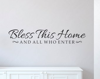 Bless This Home Decal - Bless This Home Wall Decal - Home Wall Decal - Bless This House - Bless This Home - Wall Decal
