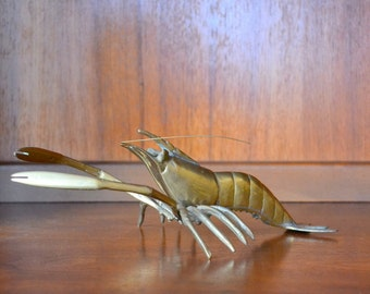 vintage brass lobster figurine