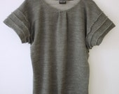 RESERVED FOR ANNA Rain Cloud Merino Wool Sweatshirt Tunic