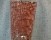 "Federal Pink Weave 4 7/8"" Glass Tumbler"