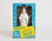 Vintage 50s NOMA Illuminated Christmas Angel Tree Topper