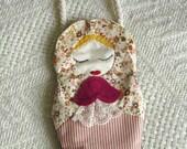 Babushka Russian doll purse,novelty purse,doll wallet,handbag,child's coin purse,girls handbag,cosmetic bag,novelty bag,Handmade by Fraline
