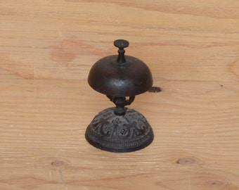 Vintage Victorian Hand Carved Cast Iron Hotel Bell From New Orleans