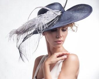 Summer Natural sizal Straw Sun Hat - New Summer Navy Hats - elegant